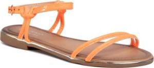 Pomarańczowe sandały Jenny Fairy z płaską podeszwą w stylu casual