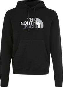 Czarna bluza the north face z napisami z dresówki
