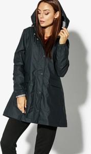 9a90cfa76a164a Czarna kurtka Confront w stylu casual długa