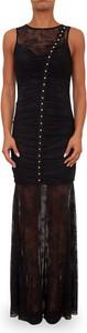 Czarna sukienka Guess bez rękawów maxi dopasowana