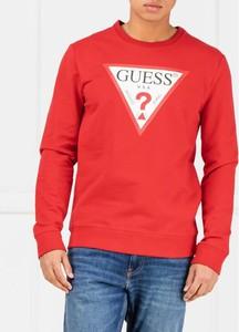 Czerwona bluza Guess z bawełny w młodzieżowym stylu