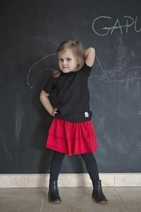 Czarna bluzka dziecięca Gapula z krótkim rękawem