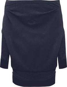 Granatowa bluzka Byinsomnia z długim rękawem