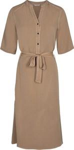 Brązowa sukienka Numph w stylu casual