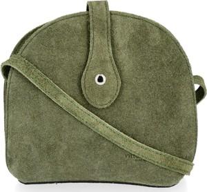 Zielona torebka VITTORIA GOTTI na ramię mała zamszowa