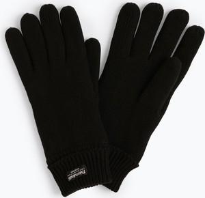 Czarne rękawiczki Eem z dzianiny