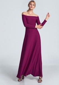 Fioletowa sukienka Figl maxi