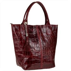 Brązowa torebka vezze duża w stylu glamour