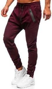 Czerwone spodnie Denley z tkaniny