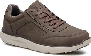 Buty sportowe Go Soft ze skóry ekologicznej sznurowane