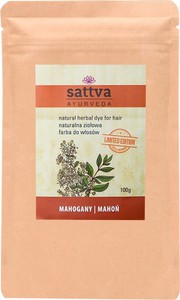 Sattva, Natural Herbal Dye for Hair, naturalna ziołowa farba do włosów, Mahogany, 100g