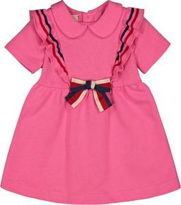 Sukienka dziewczęca Gucci w paseczki z bawełny