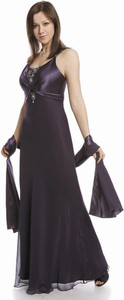 Sukienka Fokus rozkloszowana z jedwabiu z okrągłym dekoltem