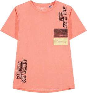 Różowa koszulka dziecięca Tom Tailor z krótkim rękawem dla chłopców