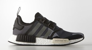 Buty sportowe Adidas Originals sznurowane z płaską podeszwą nmd