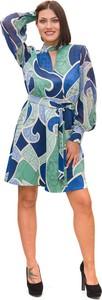 Sukienka Marella mini w stylu casual z dekoltem w kształcie litery v