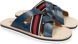 Granatowe buty letnie męskie Melvin & Hamilton ze skóry