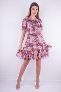 Sukienka WIBS z krótkim rękawem mini
