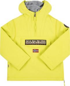 Żółta kurtka Napapijri w młodzieżowym stylu