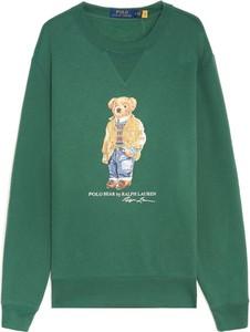 Zielona bluza POLO RALPH LAUREN z nadrukiem w młodzieżowym stylu z polaru