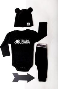 Czarne body niemowlęce ilovemilk.pl z bawełny