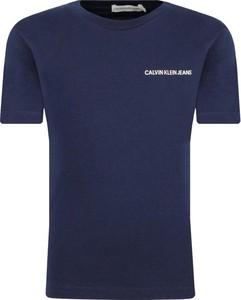Niebieska koszulka dziecięca Calvin Klein z jeansu