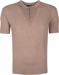 Koszulka polo ubierzsie.com z dzianiny z krótkim rękawem