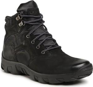 Czarne buty zimowe Lasocki For Men sznurowane