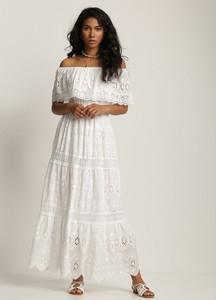 Sukienka Renee trapezowa z dekoltem w kształcie litery v z długim rękawem