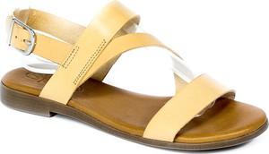 Sandały Spk Shoes z klamrami ze skóry w stylu casual