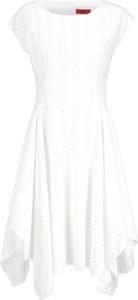 Sukienka Hugo Boss mini bez rękawów z okrągłym dekoltem