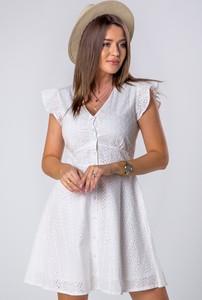 Sukienka Ptakmoda.com szmizjerka z krótkim rękawem