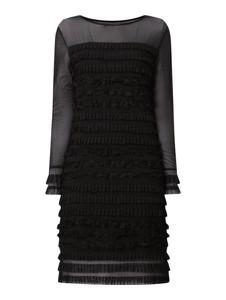 Czarna sukienka Cream z okrągłym dekoltem z długim rękawem