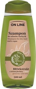 On Line, From Plants With Love, szampon do włosów, bioekstrakt z zielonej herbaty i aloes, 500 ml