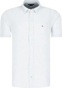 Koszula Tommy Hilfiger z krótkim rękawem w stylu casual z lnu