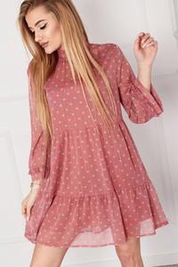 Sukienka Omnido.pl mini z długim rękawem z tiulu