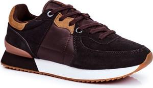 Brązowe buty sportowe Big Star sznurowane