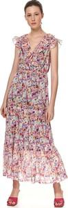 Sukienka Top Secret koszulowa maxi z krótkim rękawem