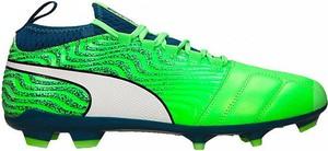 Zielone buty sportowe Puma sznurowane
