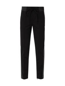 Czarne spodnie Cambio z dresówki w młodzieżowym stylu
