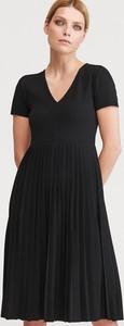 Sukienka Reserved rozkloszowana midi z krótkim rękawem