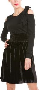Sukienka Pinko mini z okrągłym dekoltem z długim rękawem