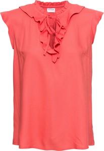 Czerwona bluzka bonprix BODYFLIRT z dekoltem w kształcie litery v na ramiączkach