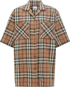 Brązowa koszula Burberry