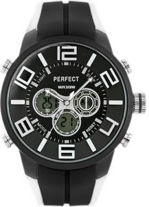 ZEGAREK MĘSKI PERFECT A853 (zp197a) - Czarny    Biały