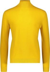 Żółty sweter United Colors Of Benetton w stylu casual z wełny