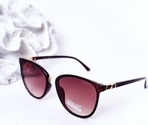 Brązowe okulary damskie Prius