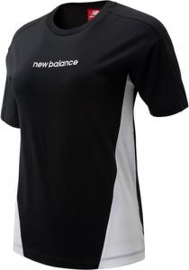 Czarna bluzka New Balance z bawełny