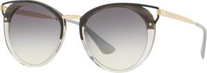 Niebieskie okulary damskie Prada