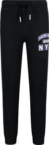 Czarne spodnie dziecięce Calvin Klein z jeansu